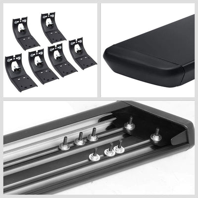 "Black Steel Flat 6"" Wide Step Running Board For 11-18 Ram 3500 Extended Crew Cab-Running Boards/Steps-BuildFastCar"