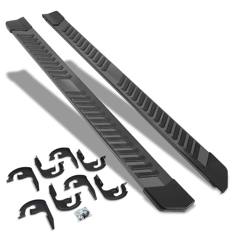 "Black Flat 6"" Wide Step Running Board For 04-14 F-150 Extended/SuperCab Cab-Running Boards/Steps-BuildFastCar"