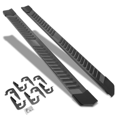 "Black Steel Flat 6"" Wide Step Running Board For 04-14 Ford F-150 Crew/SuperCrew-Running Boards/Steps-BuildFastCar"