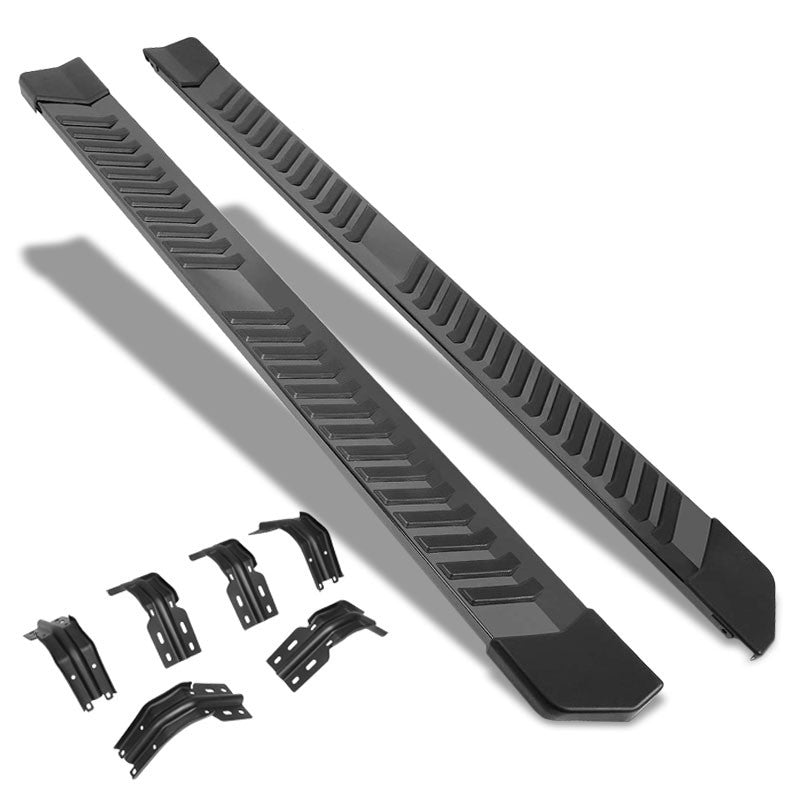 "Black Flat 6"" Wide Step Running Board For 99-16 F-250 Super Duty Extended Cab-Running Boards/Steps-BuildFastCar"
