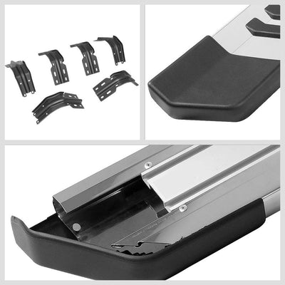 "Silver Flat 6"" Wide Step Running Board For 99-16 Ford F-250 Super Duty Extended-Running Boards/Steps-BuildFastCar"