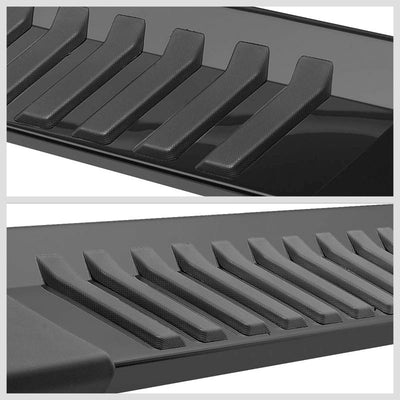 "Black Steel Flat 6"" Wide Step Running Board For 99-16 Ford F-250 Super Duty Crew-Running Boards/Steps-BuildFastCar"
