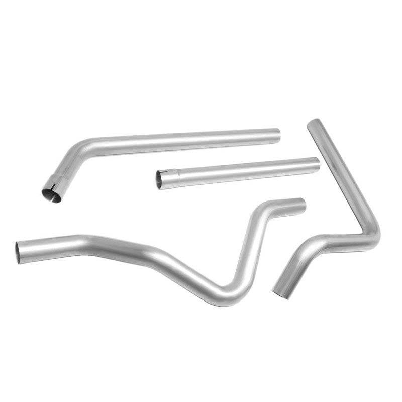 "Stainless Slip Joint 2.50"" Dual Exhaust Muffler-Back Tail Pipe For 00-03 Dakota-Performance-BuildFastCar"