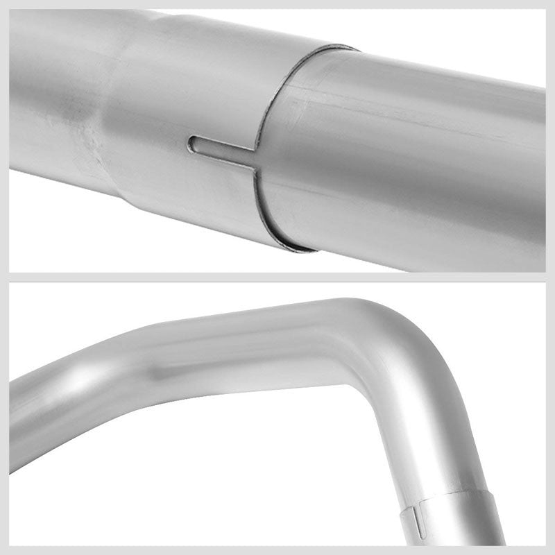 "Slip Joint 2.25"" Dual Exhaust Back Tail Pipes For 02-05 Ram 1500 2500 Crew/STD-Performance-BuildFastCar"