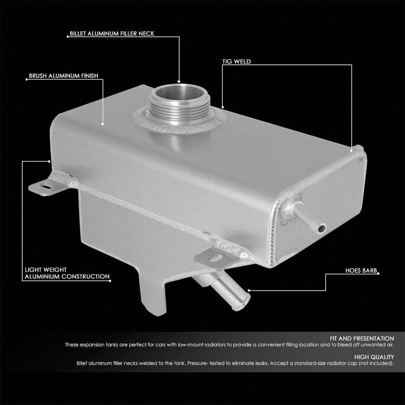 Expansion Coolant Overflow Recovery Tank For 11-14 Ford Mustang 3.7L V6/5.0L V8-Performance-BuildFastCar
