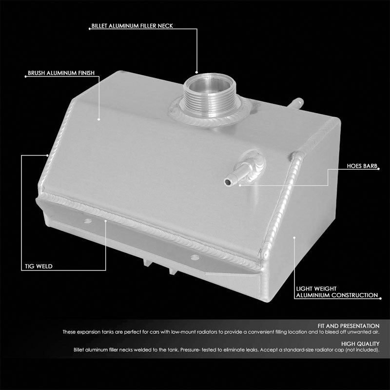 Expansion Coolant Overflow Recovery Tank For 15-18 Ford Mustang V6/V8 SOHC/DOHC-Performance-BuildFastCar
