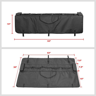 "53""-width-tailgate-crash-padded-pad-protector-cover-w-bicycle-carrier-racks"