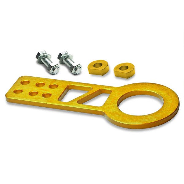 "2.25"" Front Gold Billet Style Aluminum Racing Tow Hook Kit For USDM/JDM Model-Exterior-BuildFastCar"