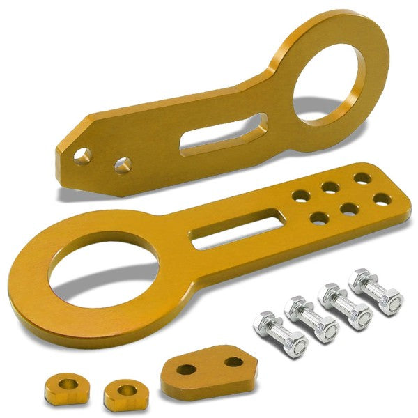 "2.45"" Front/Rear Gold Billet Style Aluminum Racing Tow Hook For USDM/JDM Model-Exterior-BuildFastCar"