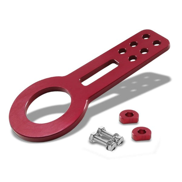 "2.45"" Front Red Billet Style Aluminum Racing Tow Hook Kit For USDM/JDM Model-Exterior-BuildFastCar"