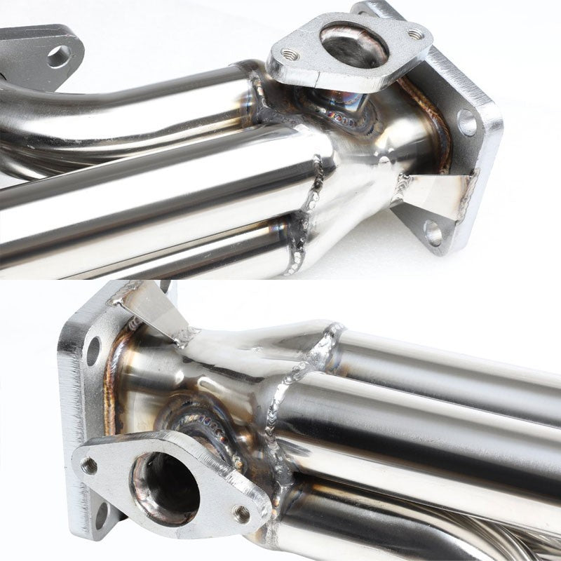 Front-Mount SS Chrome T4 Turbo Manifold+38 WG Port For Chevy/GMC 366 Big Block-Performance-BuildFastCar