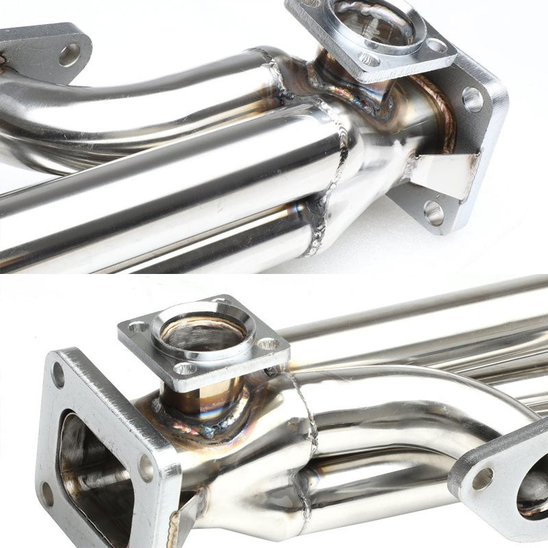 Front-Mount SS Chrome T4 Turbo Manifold+46 WG Port For Chevy/GMC 396 Big Block-Performance-BuildFastCar