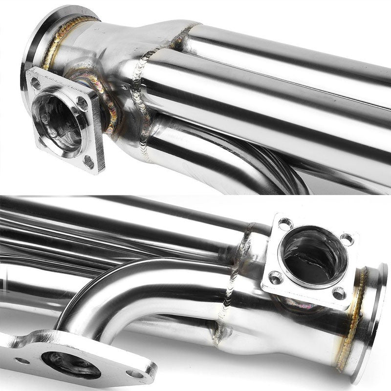 "Front-Mount SS Chrome 3"" V-Band Turbo Manifold+46WG Port For Chevy/GMC Big Block-Performance-BuildFastCar"