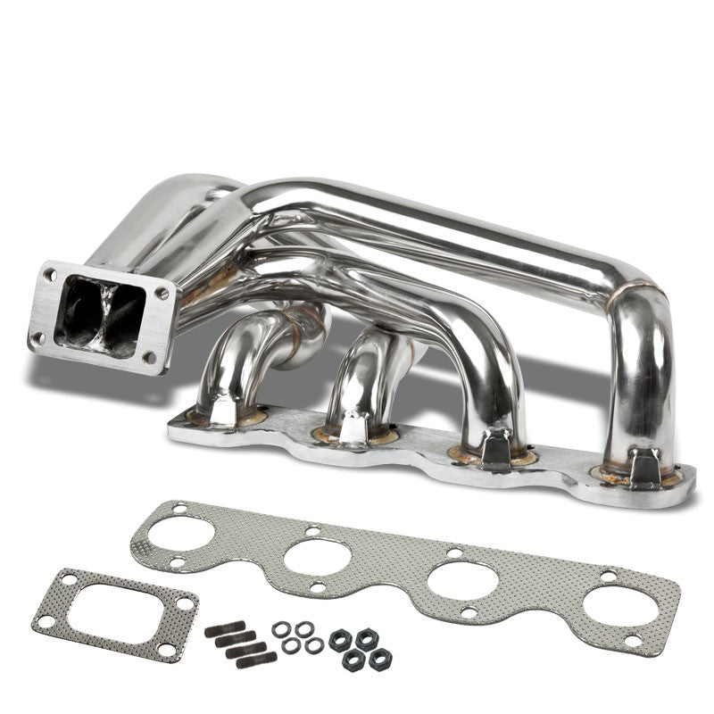 Race SS Chrome T3 Flange Turbo Manifold For 68-71 BMW 1800 I4 M10-Performance-BuildFastCar