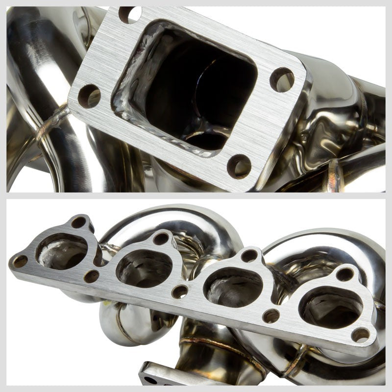 Race SS Non-Polish T3/T4 Turbo Manifold+WG Port For 89-91 CRX SOHC I4 D-Series-Performance-BuildFastCar