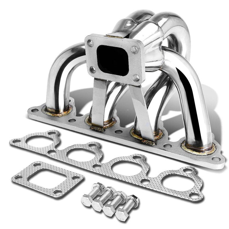 Race SS Non-Polish T25 Turbo Manifold For 88-00 Civic 1.5L/1.6L SOHC I4 D-Series-Performance-BuildFastCar