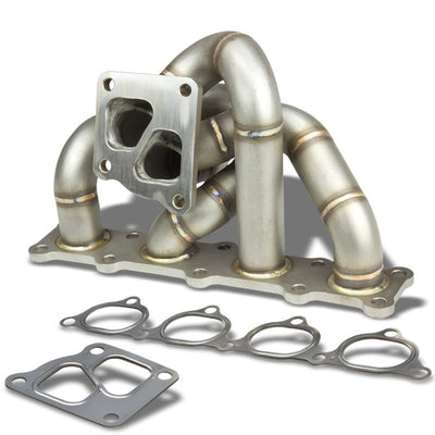 Race Non-Polished TD05 Twin Scroll Turbo Manifold for 08-14 Lancer Evolution 10-Performance-BuildFastCar