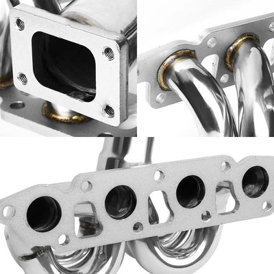 Race SS Chrome T25 Flange Turbo Manifold For 01-04 Tribute 2.0L-Performance-BuildFastCar