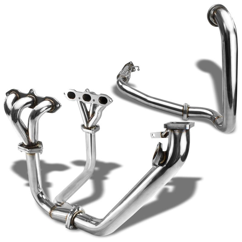 Race SS Chrome T3 Turbo Manifold+WG Port For 98-02 Accord LX/EX V6 CG1/CG2 J30A1-Performance-BuildFastCar