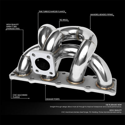 Stainless Steel T3/T4 Turbo Manifold For 10-14 Hyundai Genesis Coupe BK 2.0T