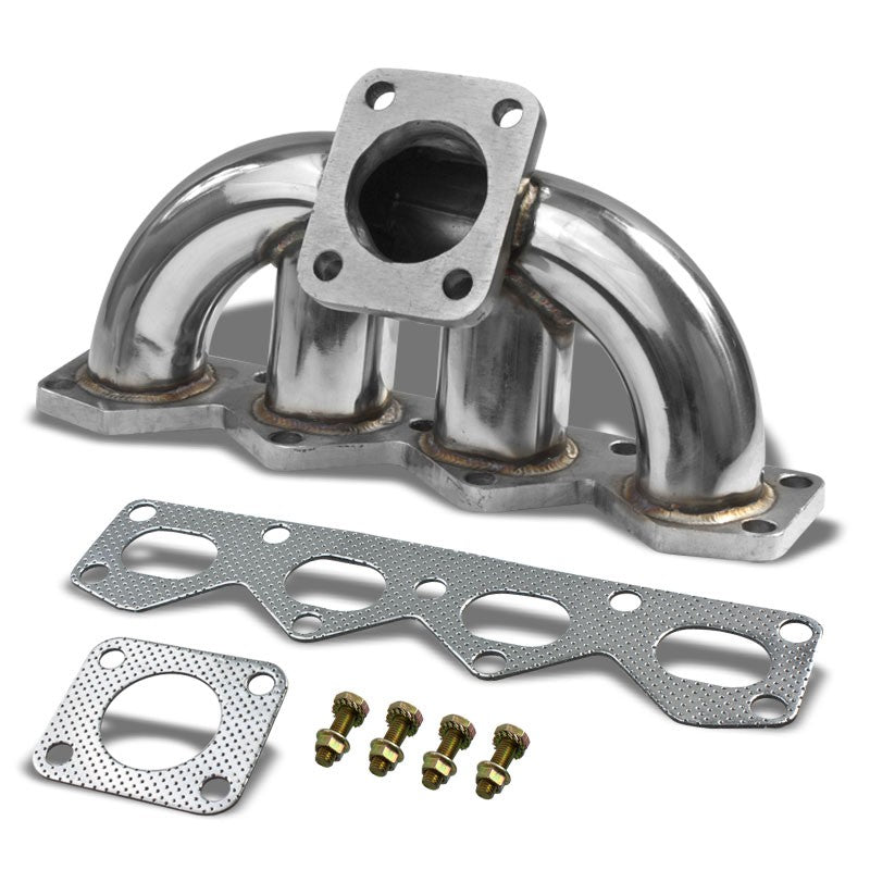 Race SS Chrome TD05/DSM 16G Turbo Manifold For 90-93 Miata MX-5 NA B6ZE(RS)-Performance-BuildFastCar
