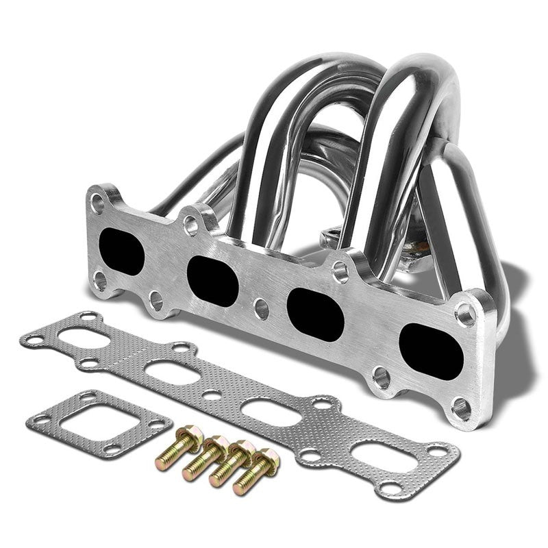 Race SS Chrome T25/T28 Flange Turbo Manifold For 94-05 Miata 1.8L DOHC l4-Performance-BuildFastCar