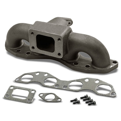 Race Cast Iron Steel T3/T4 Turbo Manifold+WG Port For 89-98 240SX Swap SR20DET-Performance-BuildFastCar
