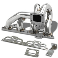 Race SS Chrome T25 Turbo Manifold For 89-98 240SX S13/S14 Silvia Swapped SR20DET-Performance-BuildFastCar