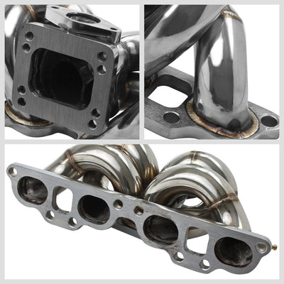 Race SS Chrome T3/T4 Turbo Manifold+WG Port For 240SX Silvia Swapped SR20DET-Performance-BuildFastCar