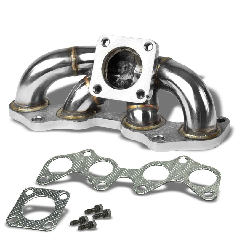 Race SS Chrome CT9 Flange Turbo Manifold For Toyota 1.6L DOHC 4E-FE/4E-FTE-Performance-BuildFastCar