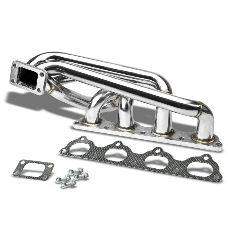 Top-Mount SS Chrome T3/T4 Flange Turbo Manifold For 91-94 940 B20 B23 Redblock-Performance-BuildFastCar