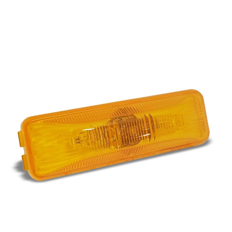 Truck-Lite 19200Y 19 Series Male Pin PC Yellow Utility Marker Clearance Light-Trailer Light Parts-BuildFastCar-BFC-TTP-MCL-TRU-19200Y