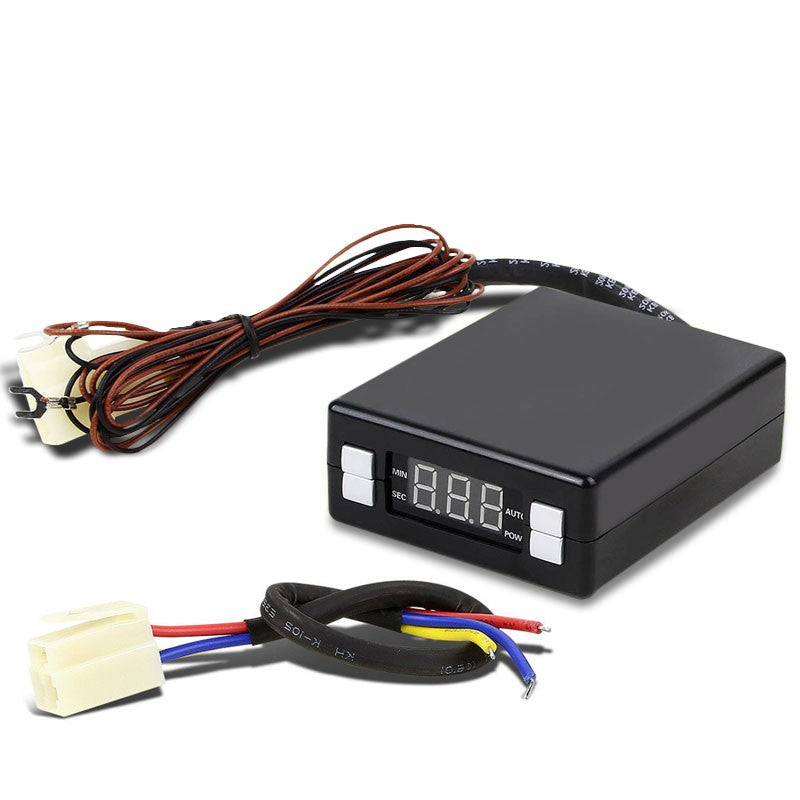 Black Universal Box Style LED Digital Display Programmable Idle Auto Turbo Timer-Superchargers & Turbochargers-BuildFastCar-BFC-TTM-BOX-SL