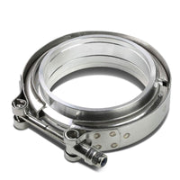 "3.00"" 76mm Zinc Coat V-Band Clamp+Aluminum Flange for Turbo Downpipe Intercooler-Performance-BuildFastCar"