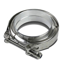 "3.50"" 89mm Zinc Coat V-Band Clamp+Aluminum Flange for Turbo Downpipe Intercooler-Performance-BuildFastCar"
