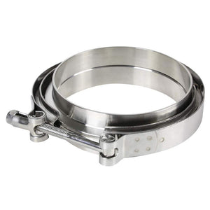 "3.50"" 89mm Zinc Coat V-Band Clamp+Flange for Turbo Downpipe Intercooler Exhaust-Performance-BuildFastCar"