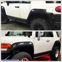 Black Glossy Pocket-Riveted Wheel Fender Flare Guard For 07-14 Toyota FJ Cruiser-Exterior-BuildFastCar