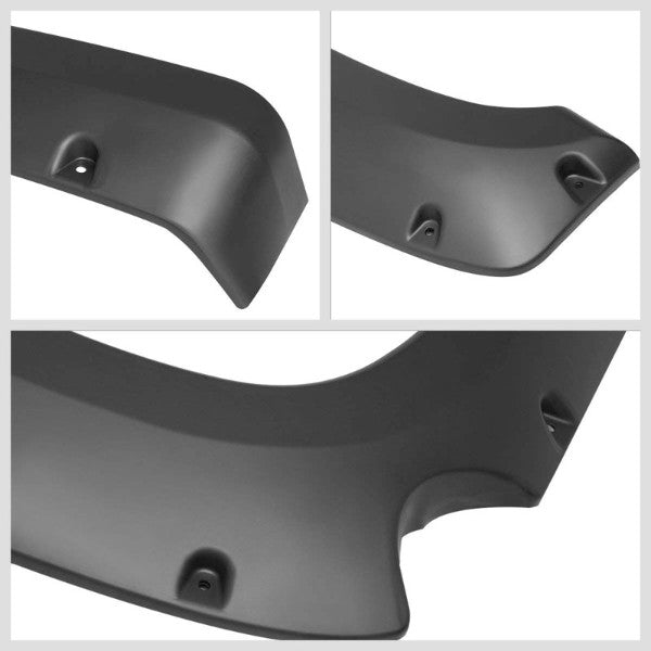 "Matte Pocket-Rivet Wheel Fender Flares For 07-13 Silverado 1500 69.3"" Short Bed-Exterior-BuildFastCar"