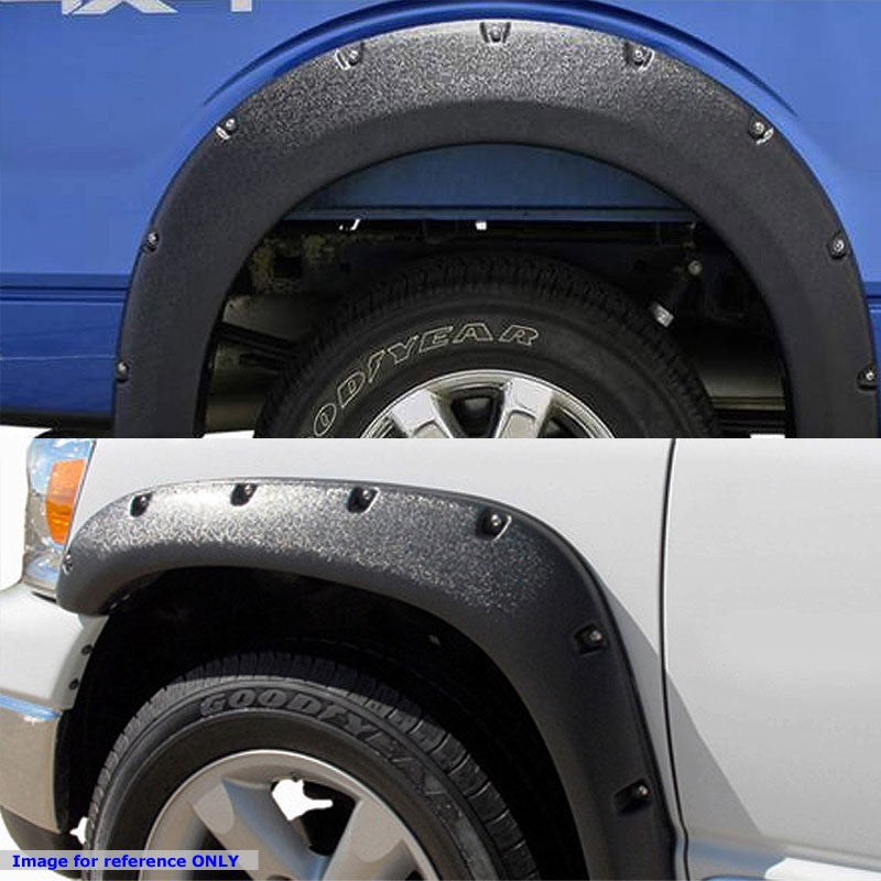 Matte Black ABS Pocket-Riveted Style Wheel Fender Flare Guard For 09-17 Ram 1500-Exterior-BuildFastCar