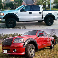 "Matte Black ABS Pocket-Riveted 3"" Coverage Wheel Fender Flares For 04-08 F-150-Exterior-BuildFastCar"