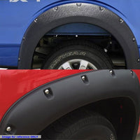 Matte Black ABS Pocket-Riveted Wheel Fender Flares For 11-16 F-250/F-350 SD-Exterior-BuildFastCar