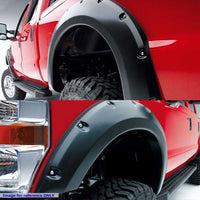 Black ABS Pocket-Riveted Style Wheel Fender Flares Guard For 07-13 Tundra-Exterior-BuildFastCar