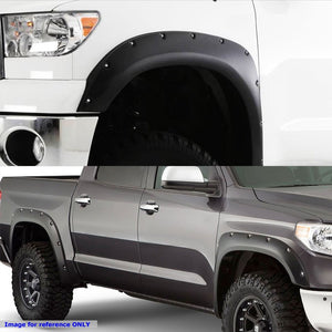 Matte Black ABS Pocket-Riveted Style Wheel Fender Flares Guard For 14-17 Tundra-Exterior-BuildFastCar