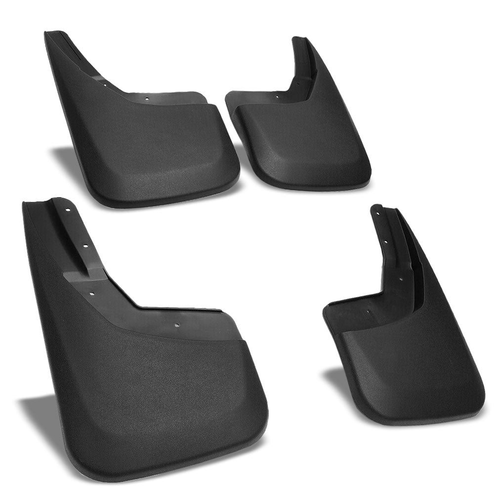 Matte Black Molded Etched 4X4 Logo Mud Flaps Guard For 14-18 Silverado 1500-Exterior-BuildFastCar