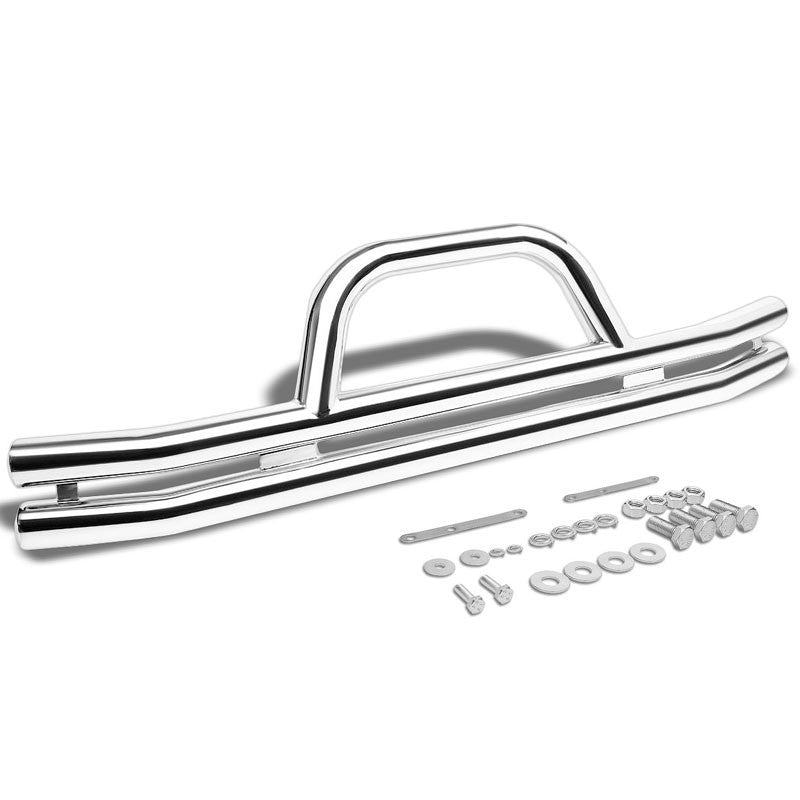 Chrome Front Bull Bar Bumper Brush Grille Guard Frame For Jeep 87-06 Wrangler-Exterior-BuildFastCar
