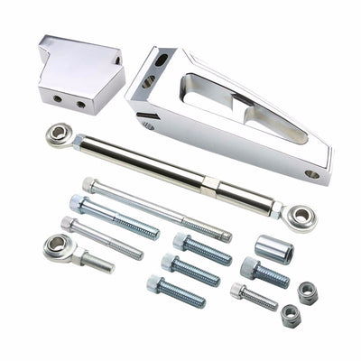Aluminum Air Conditioner Mounting Bracket Kit For Chevy BBC 396 Short Water Pump-Performance-BuildFastCar