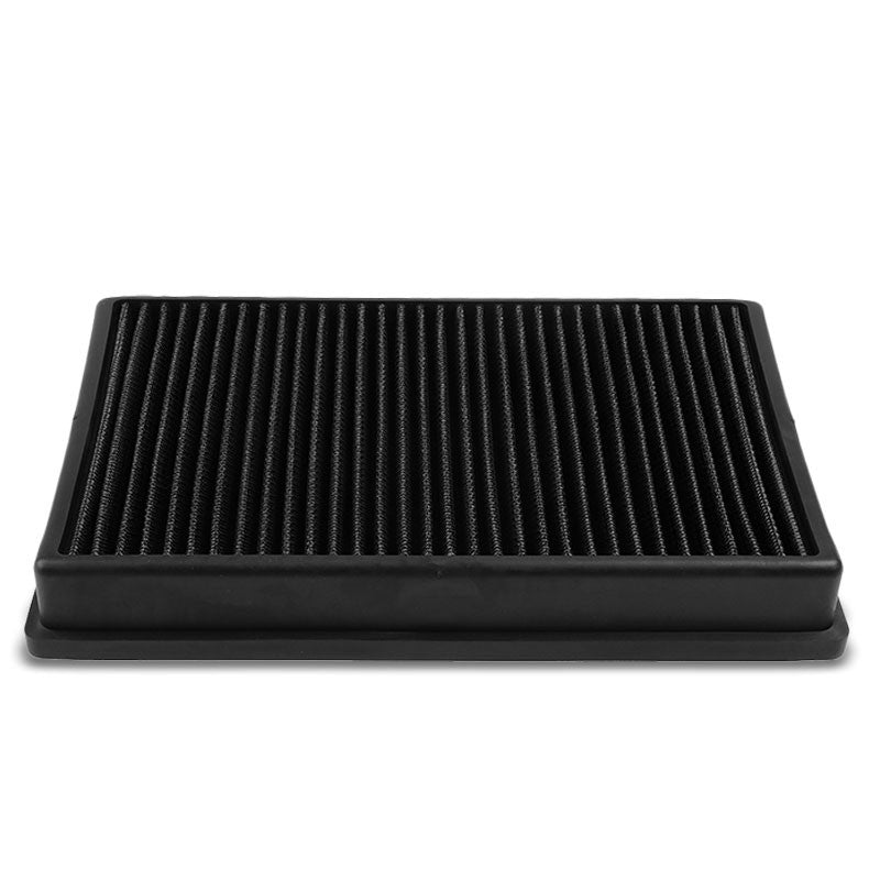 Black High Flow Washable/Reuse OE Drop-In Panel Air Filter For Audi/VW L4 Turbo-Performance-BuildFastCar