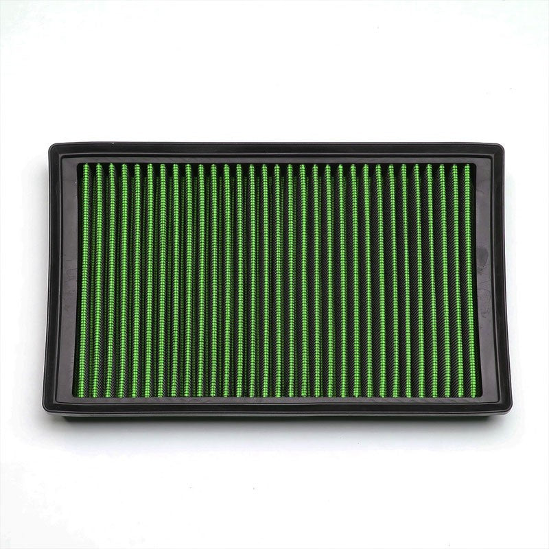 Green High Flow Washable/Reuse OE Drop-In Panel Air Filter For Audi/VW L4 Turbo-Performance-BuildFastCar