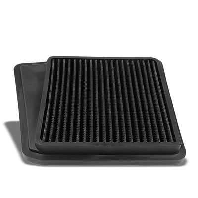 Black High Flow Washable/Reuse OE Drop-In Panel Air Filter For 09-14 Acura TSX-Performance-BuildFastCar
