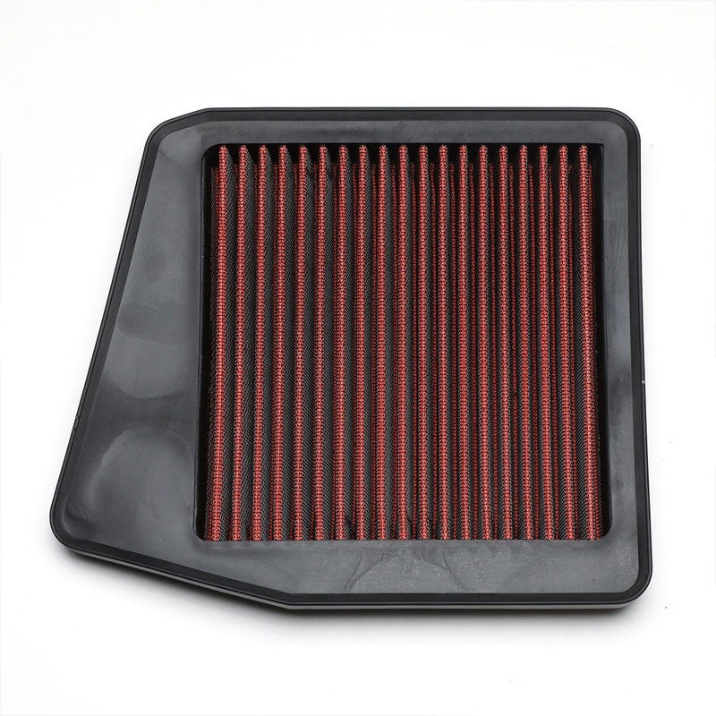 Red High Flow Washable/Reuse OE Drop-In Panel Air Filter For 09-14 Acura TSX-Performance-BuildFastCar